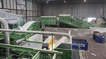 Een overzicht van de afvalverwerking installatie van de firma Beelen (NL)