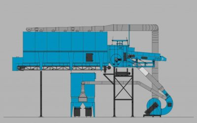 Drum separator made by Walair Separation Systems